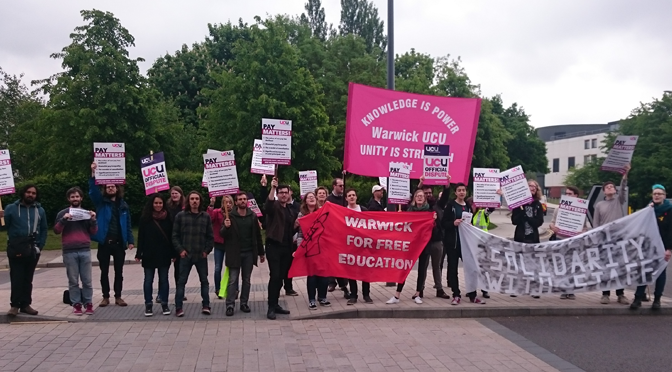 UCU strike at Warwick  – 26th May 2016
