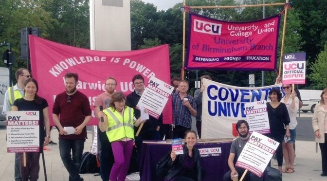 UCU Strike on Warwick Open Day