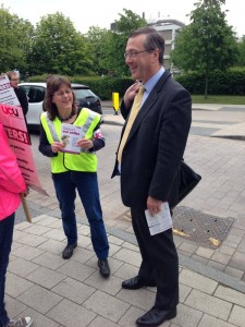 Warwick University VC at the picket line